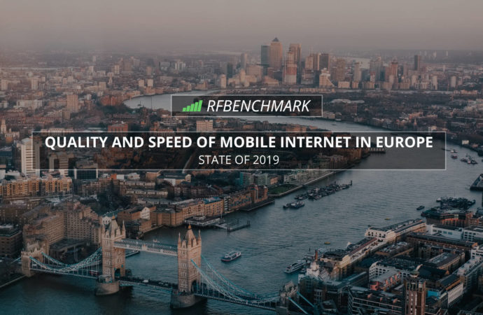 Quality and speed of mobile Internet in Europe – RFBENCHMARK (2019)